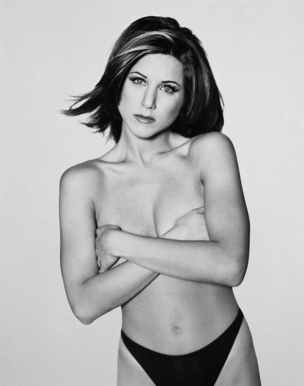 Hot Jennifer Aniston Holding Her Boobs