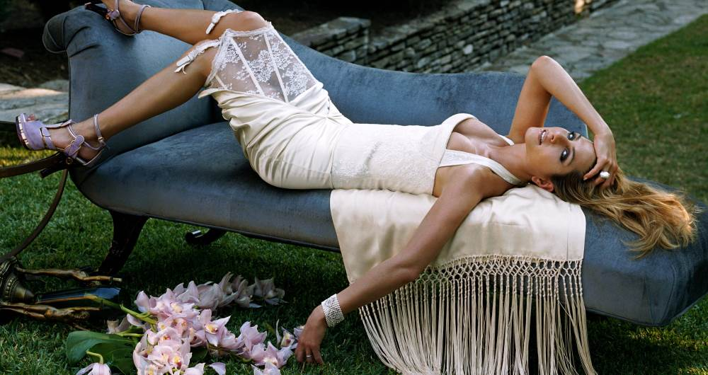 Laying Down Aniston