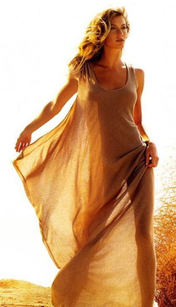 Gisele In See Through Dress