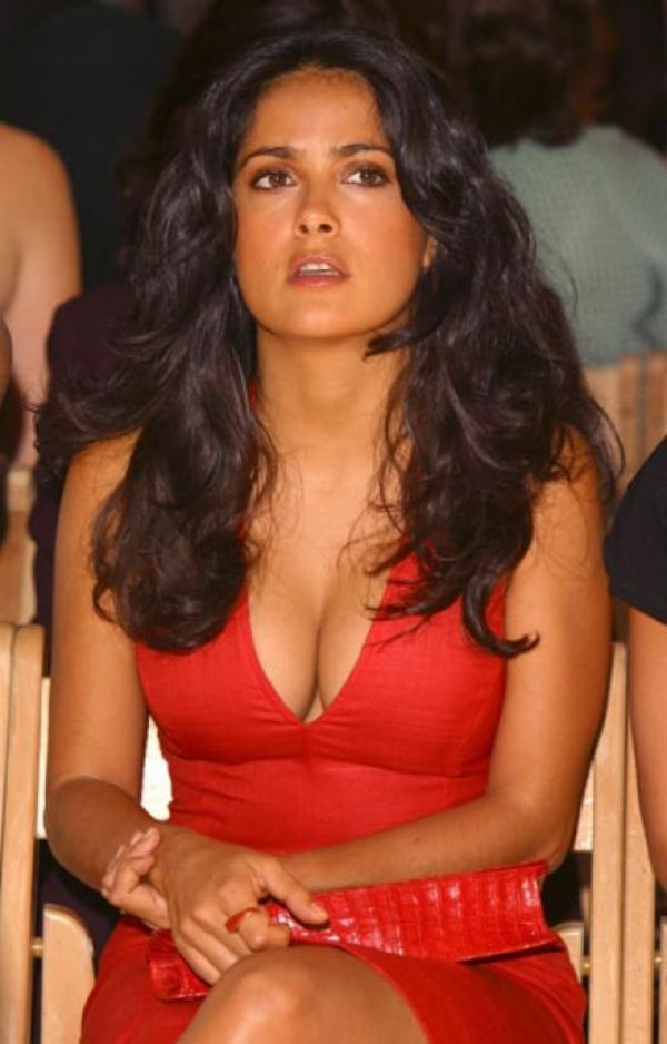 Hot Salma Hayek Pictures Red Dress