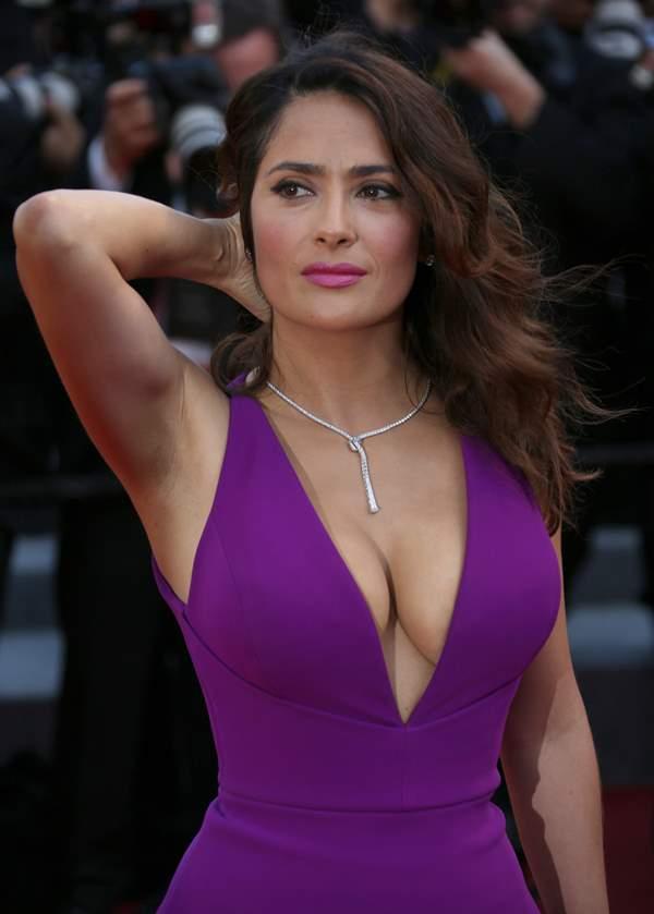 Purple Dress Salma Hayek Photo