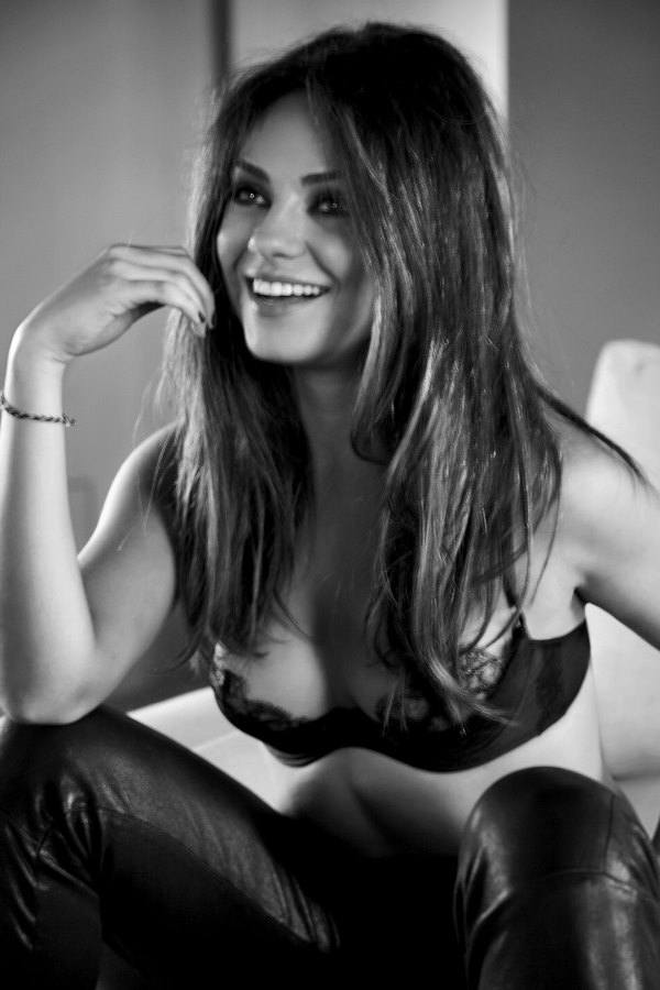 Hot Black And White Photo Of Mila Kunis